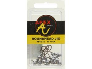 Apex Crappie Fishing AP116-10-8 Jig Heads 1/16 OZ 10 PK Plain