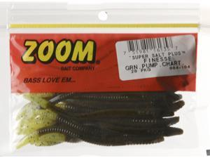 Zoom 004-104 Slt+Finesse 20 PK Green Pmk Ch Bass Fishing Soft Plastic