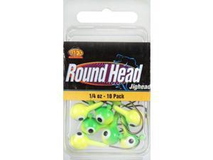 Apex RH14-2-10 Freshwater Round Jig Head 1/4 OZ Chartruese/Green