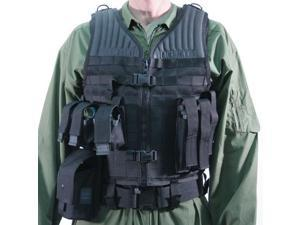 Blackhawk 37CL36BK Black Heavy Duty S.T.R.I.K.E. Tactical Vest - Adjustable Fit