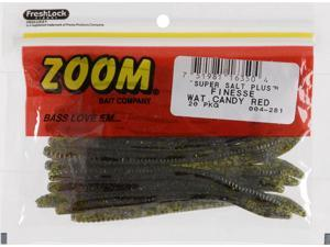 Zoom Soft Plastic Fishing Bait 004-281 Super Salt+ Finesse Worm Water Candy Red
