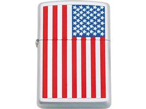 Zippo ZOFLAG Military/Patriotic Lighter American Flag Brushed Chrome Th