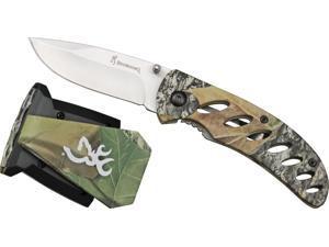 Browning 3715096 Night Seeker 2 Camo Folding Knife/Vista Combo w/Pocket Clip