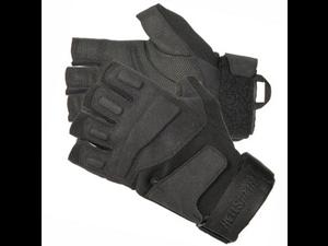 Blackhawk 8068SMBK Men's Black HellStorm Solag Half Finger Gloves - Sall