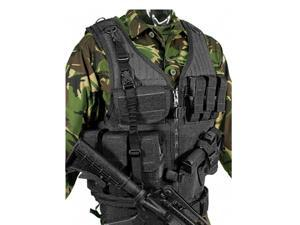 Blackhawk 30EV26BK Tactical Vest Cross Draw Right Hand W/ Pistol Magazine Black