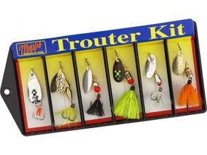 Mepps K1D Trouter Fishing Trout Spinner /Spoon 6 Piece Kit Dressed