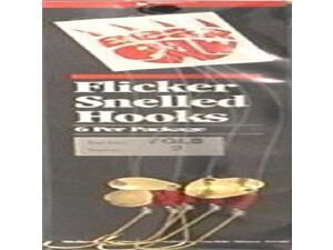 Bear Paw FGLS-2 Flicker Snell Circle Size 2 Gold Fishing Snelled Hook