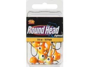 Apex RH14-1-10 Freshwater Round Jig Head 1/4 OZ Chartruese/Orange
