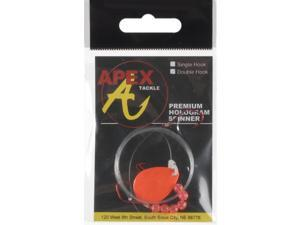 Apex Bass Lure SC3D-32-1 Hologram Spinner Rigs Sickle Hook Fluorescent Orange