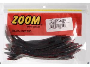 Zoom Soft Plastic Bass Fishing Bait 006-139 Trick Worm 20 PK Black Ruby