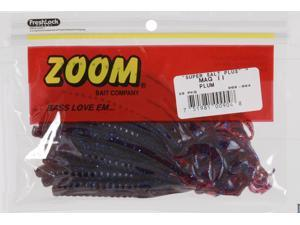 "Zoom Soft Plastic Bass Fishing Bait 009-004 Super Salt+ 9"" Magnum II Worm Plum"