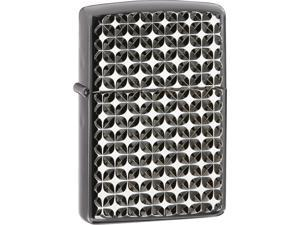 Zippo ZOZO28186 Traditional Lighter Engine Turned Star Pattern Armor Case