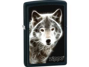 Zippo ZO28303 Hunting/Wildlife Lighter White Wolf Black Matte Zo28303 Ligher Typ