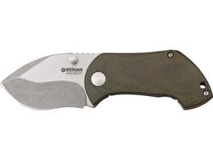 "Boker BO02110 Knives Folder Knife Micarta Handle Pipsqueak 3 5/8"" Closed Framelo"