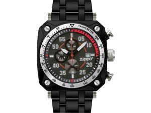 Zippo ZOZO45019 Men's Sport Watch Black Dial White Logo Black Finish Bracelet Ke