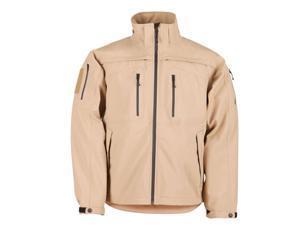 5.11 48112120L 48112 Sabre 2.0 Coyote Tan Waterproof Seamsealed Jacket LG