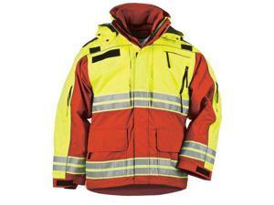 5.11 48073477M 48073 Ranger Red Men's Responder Hi-Vis Parka SZ MD Regular
