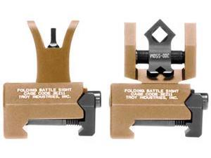 Troy BattleSight Micro, Front and Rear Sight, Di-Optic Aperture, Picatinny, Flat Dark Earth Finish SSIG-MCM-SSFT-00