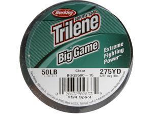 BGQS50C-15 Berkley Trilene Big Game Clear 1/4lbSpools 275yd Of 50lbTest Line