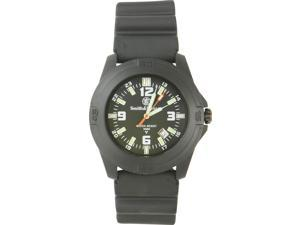 Smith & Wesson SWW-12T-R Wesson Soldier Watch Black Rubber Wrist Band Tritium