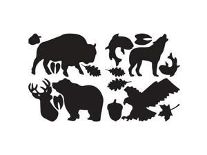 "McNett 10820 Wildlife Black Tenacious Tape Gear Patches 20"""