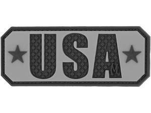 "Maxpedition MXUSATS USA Patch - SWAT Black/Gray 2.5""x1"""