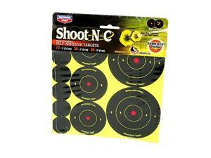"Birchwood Casey Shoot-N-C Target, Round Bullseye, Assortment Kit,72-1"", 36-2"", and 24-3"" Targets 34608-12"