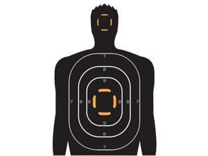 "Allen A15202 Human Target Silhouette 4 Pack 23"" x 25"" - White"