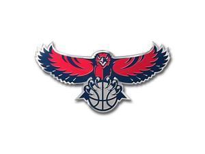 """NBA CE3NB01 Atlanta Hawks Color Automobile Emblem - 3.25"""" x 3.25"""""""