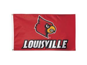 NCAA 4019 Louisville 3' x 5' Flag with Attached D-Rings