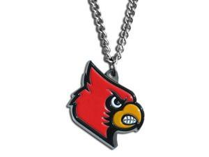 "NCAA CN88 Louisville Cardinals Logo 20"" Chain Necklace w/ Cast Pendant"