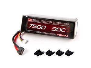 Venom 30C 3S 7500mAh 11.1V 3 Cell RC LiPo Battery Traxxas Deans Tamiya EC3 Plug   Part No. 1552