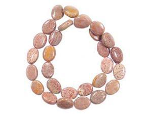 FOSSIL AGATE 11x14MM PUFF OVAL BEADS AA++