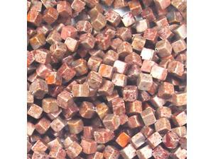 """6MM FOSSIL AGATE DICE SQUARE BEADS - 15.75"""" ST"""