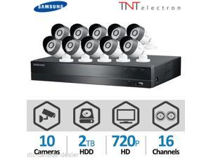 Samsung SDH-C5100 16 Channel 720p HD DVR Video Security System/ 10 x 720p high definition weatherproof cameras/ 2TB Hard Disk Drive (SATA)/ 720p HD real-time monitoring & recording/     3 Mon Warranty