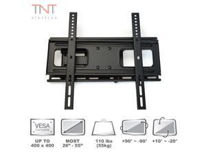 "Atron Vision TV Monitor Wall Mount for most 26"" - 55"" LED LCD Plasma Flat Screen Up To 110 lbs VESA 400 x 400 Tilt Swivel Bracket"