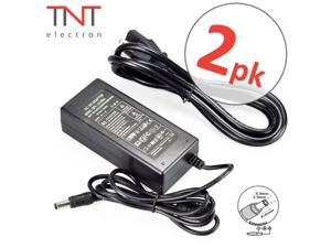 Power Supply Adapter AC DC Charger 12V 5A 60W Multipurpose Adaptor LED Strip 2 PACK