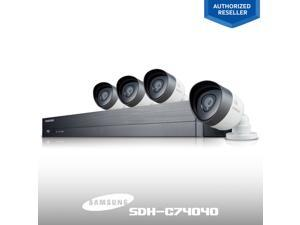 Samsung 8Ch. FHD SDH-C74040 1080P System + 4 1080p Full HD Weather Resistant Outdoor Bullet Cameras / Free iPhone and Android iPOLiS App / Wi-Fi Ready for Wireless Connection for Remote Viewing / 2TB