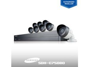 Samsung 16Ch. FHD SDH-C75080 1080P System + 8 Night Camera / Smart Device View Free iPhone and Android iPOLiS App / Wi-Fi Ready for Wireless Connection for Remote Viewing / 2TB