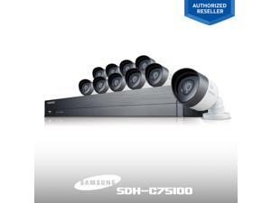 Refurbished: Samsung 16 Channel SDH-C75100 1080p FHD Security System include 10 of 1080P Night Vision Cameras, 10 of 60ft BNC cables, 2TB HDD, Smartphone and PC ready. View Remote viewing on iPOLis mobile, PC