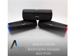 Atron Vision AGS-P110 Bluetooth Waterproof Portable Wireless Speaker, 3W Speaker Output, Operating Distance 30FT, Playback Time Up to 12 Hrs, Compatible with Apple, Samsung Smatphone, Tablet, PC,