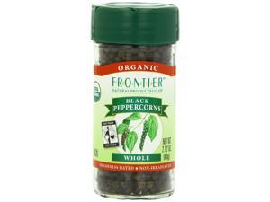 Peppercorns, Black Whole Certified Organic, Fair Trade Certified - 2.12 oz,(Frontier)