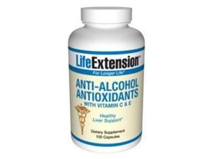 Life Extension Anti-Alcohol Antioxidants with HepatoProtection Complex | 100 capsules