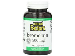 Bromelain 500mg - Natural Factors - 180 - Capsule