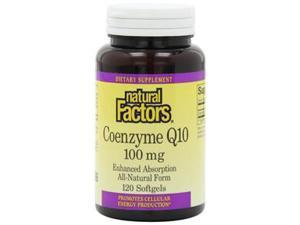 Coenzyme Q10 100mg in Rice Bran Oil - Natural Factors - 120 - Softgel