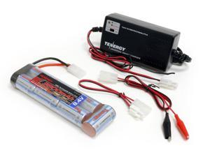 Combo: Tenergy Smart Universal Charger for NiMH/NiCD Battery Packs(6v - 12v) + Tenergy NiMH 3800mAh 8.4V 7S Flat Battery w/ Tamiya Connector