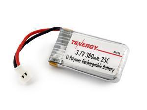 Tenergy 3.7V 380mAh LiPO High Performance Battery for TDR Spider, Hubsan X4, Syma X11/X11C, X51, WLtoys V252, JXD JXD385, XT Flyer
