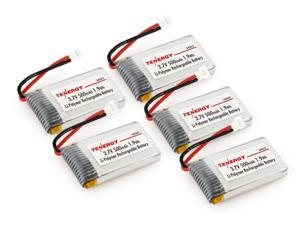 Tenergy 3.7V 500mAh LiPO Battery for Syma X5/ X5C/ X5SC/ X5SW 2.4G 4CH RC Quadcopters, 5 pieces