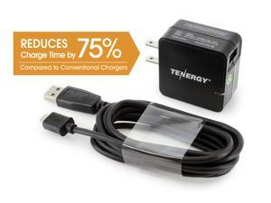 Tenergy 18W USB Universal AC Wall Adaptive Fast Charger Qualcomm® Quick Charge™ 2.0 technology - Samsung Galaxy S6, Note 4, HTC One M8, Sony Xperia Z3, Z4 Tablet, Motorola Droid Turbo, Nexus 6, etc