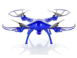 Syma X5SC (2015 The Latest Version) Explorers 2 2.4G 4CH RC Headless RTF Quadcopter with 2MP 720P HD Camera - Exclusive Thunder Blue Deluxe Package with Additional Battery & Accessories